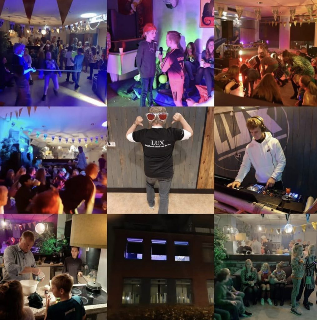 collage LUX Disco Party